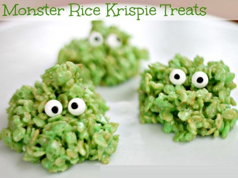 Rice Krispy Monsters