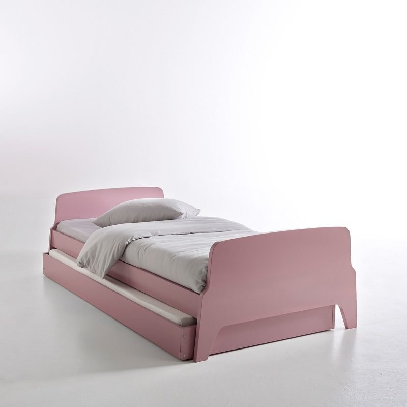 Pink retro style bed with trundle