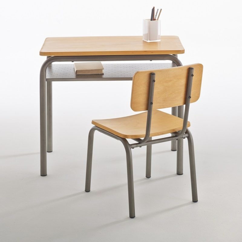 School-type desk and chair