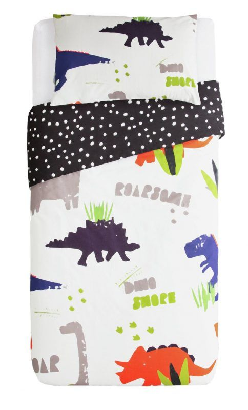 Bold dinosaur theme bedding set