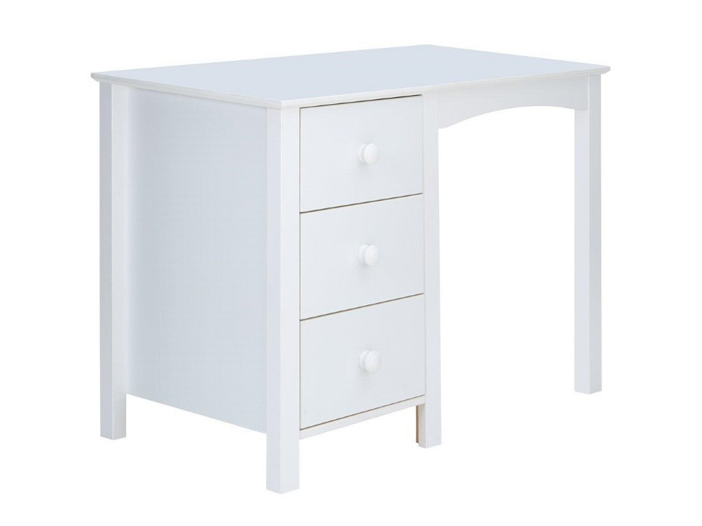 Kid's white desk with 3 drawers