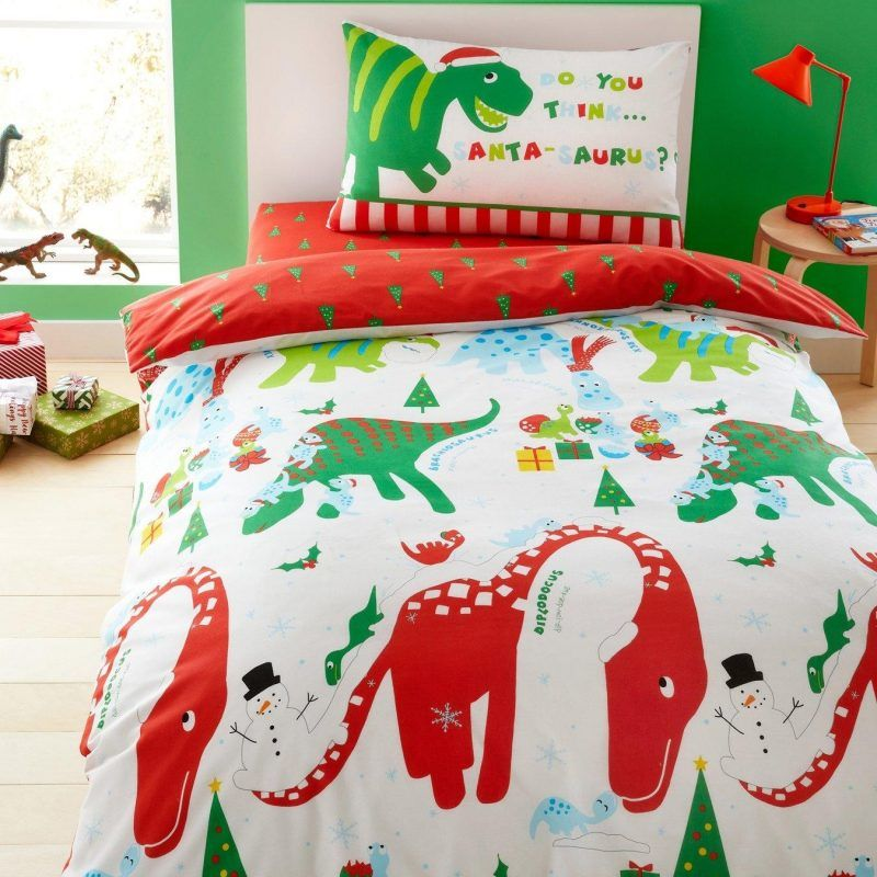 Seasonal dinosaur theme bedding set