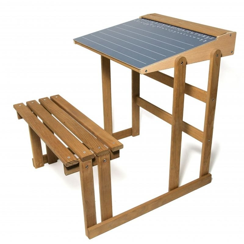 All-in-one desk and bench set