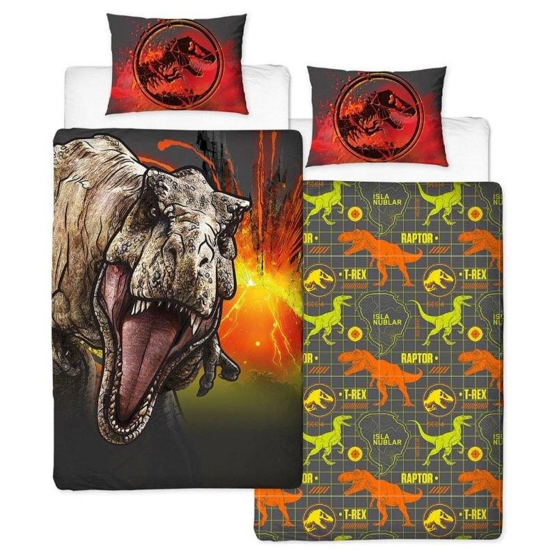 Raptor print bedding set