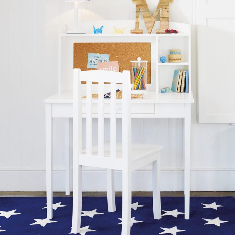 Tall white desk with hutch