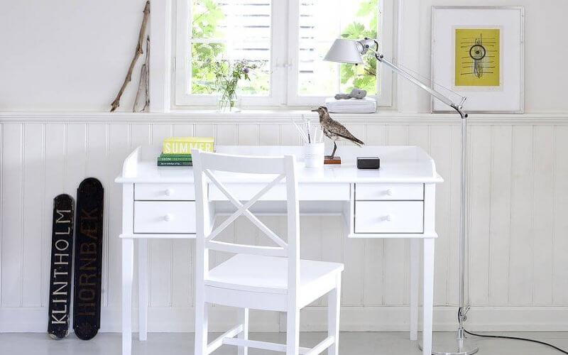 White Painted Wood Desks