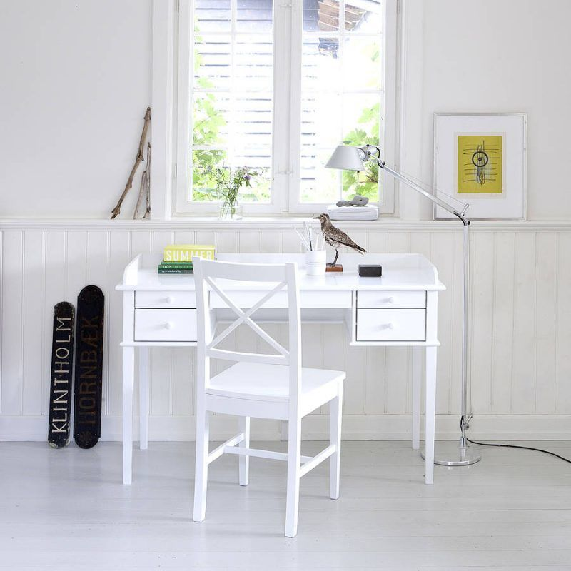 Kid's white painted desk