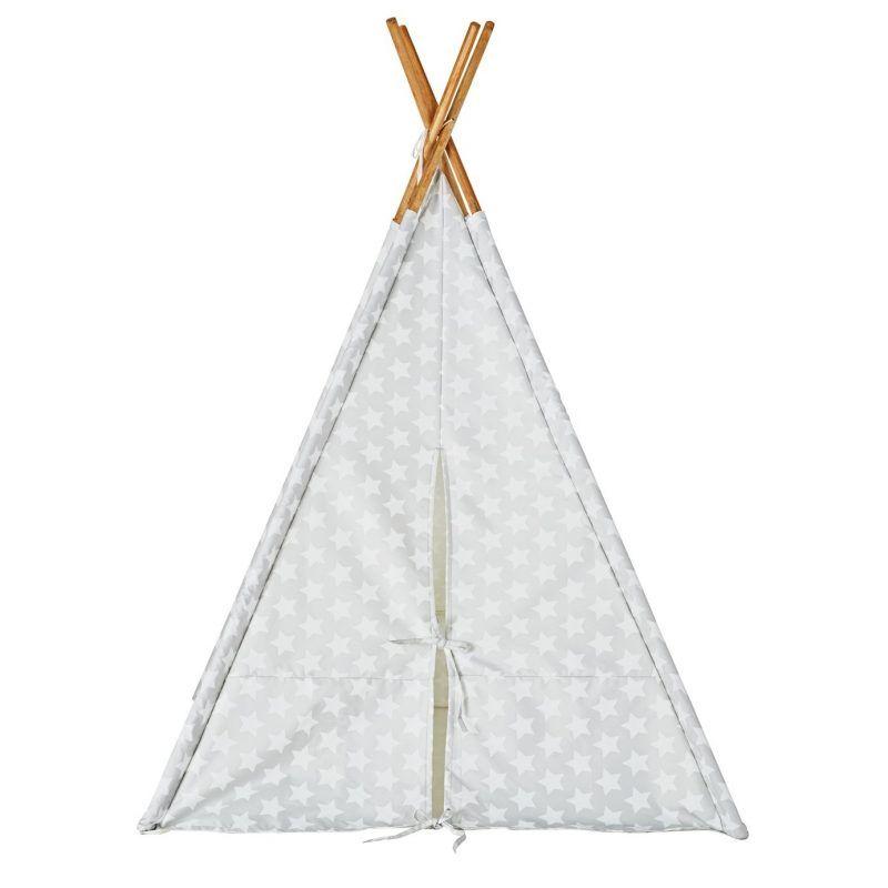 Grey teepee with white stars print