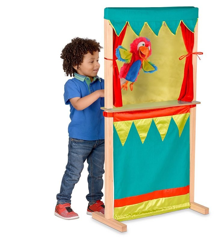 Combined play shop and puppet theatre