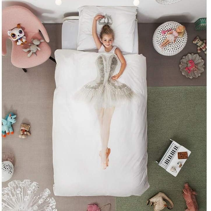 This image has an empty alt attribute; its file name is Childrens-Ballerina-Duvet-Bedding-Set.jpg