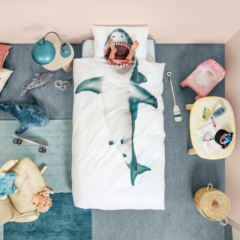 Shark themed bedding