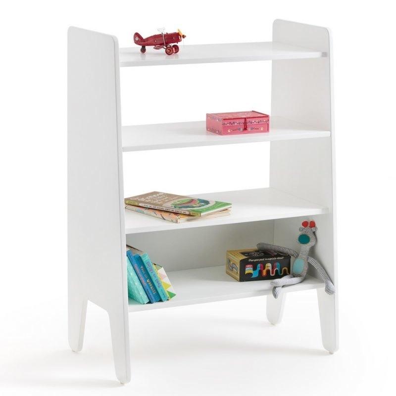 4-tier white bookcase