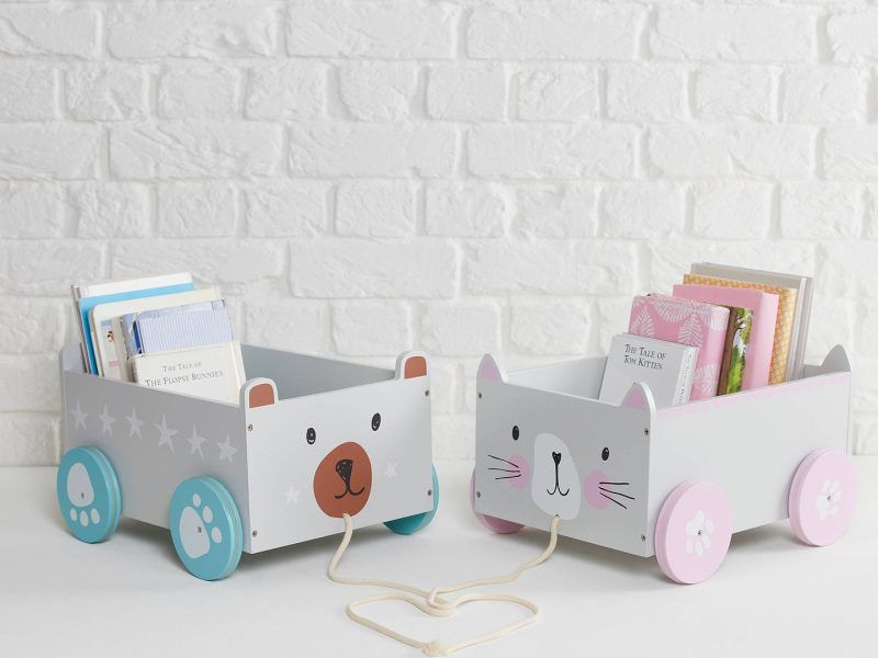 Animal theme book carts