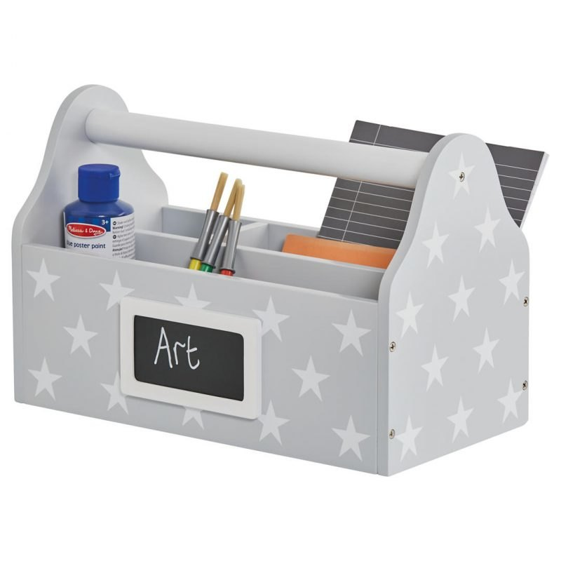 Grey carry caddy with white stars