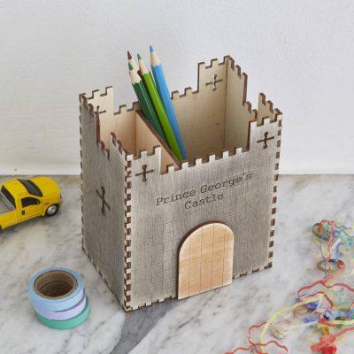 Castle theme desk tidy