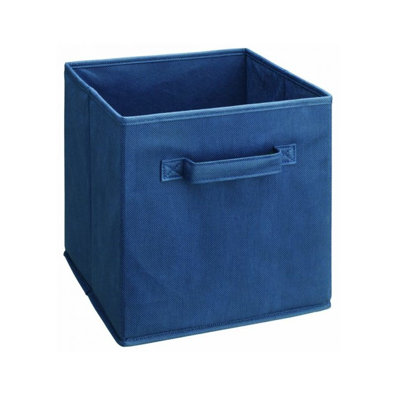 Blue canvas cube