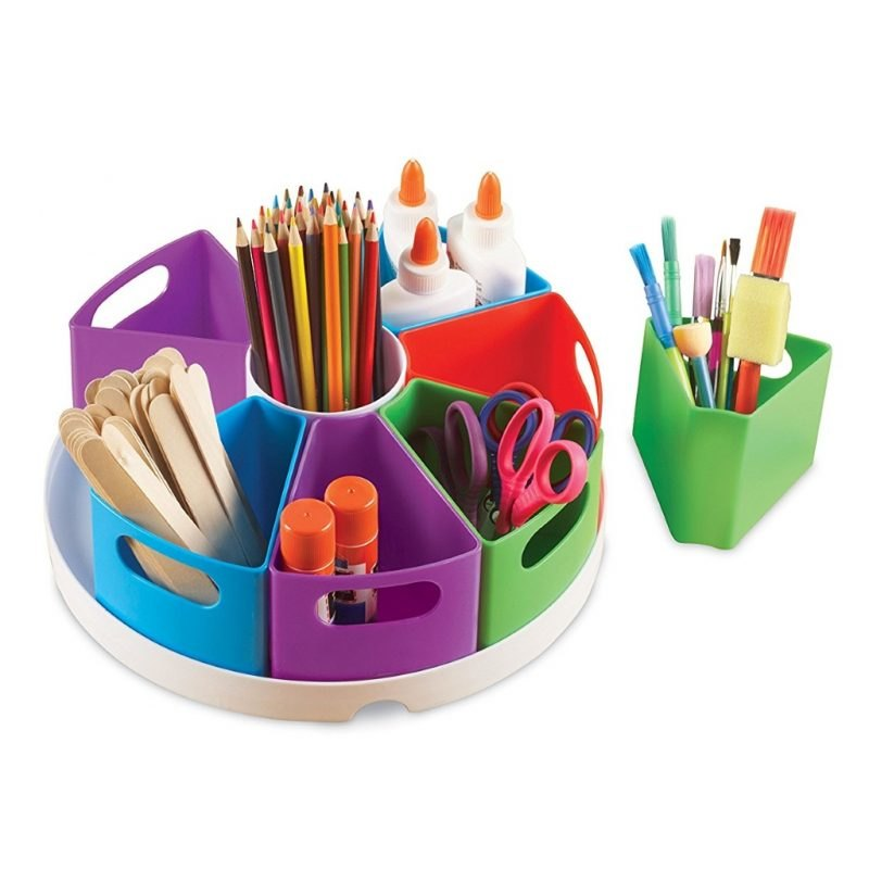 Circular desk organise with removable sections
