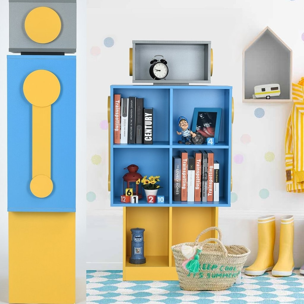 Robot style kid's bookcase