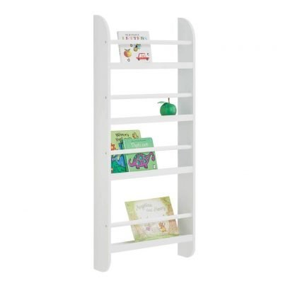 Slimline 4-tier wall-mounted bookcase