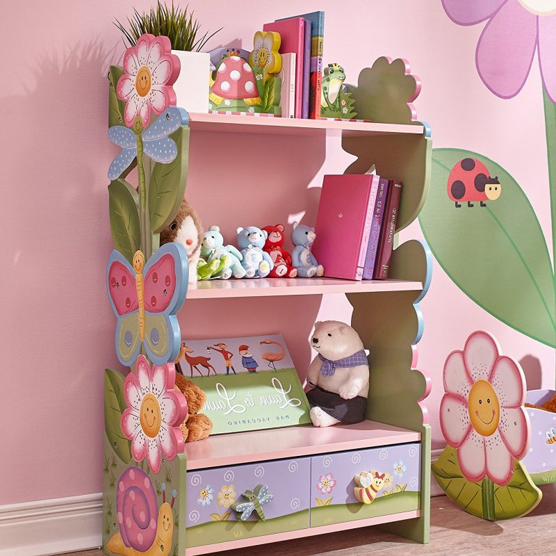 Garden theme painted bookcase