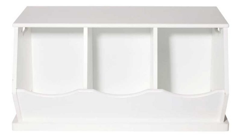 3 section storage trunk, white