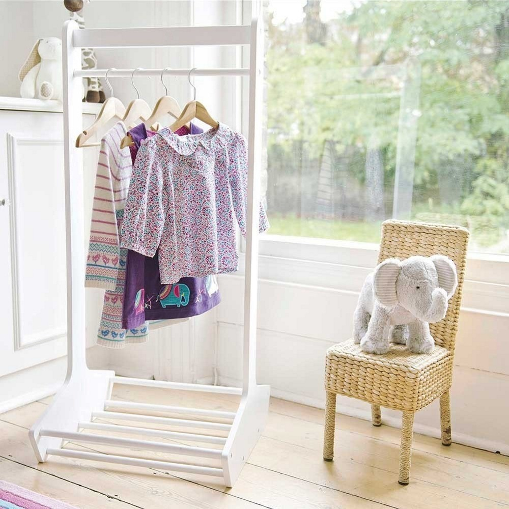 Kid's clothes rail and shoe rack