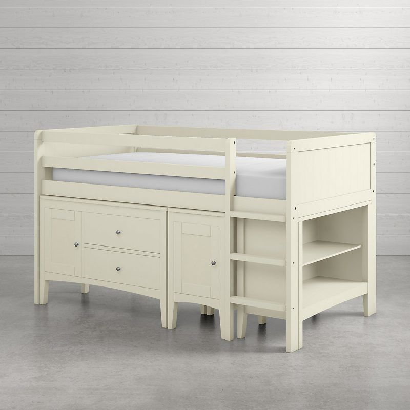 White painted cabin bed