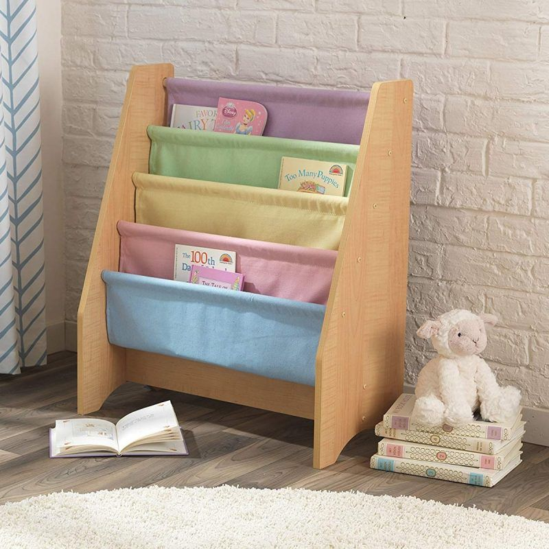 Pastel colour sling bookcase