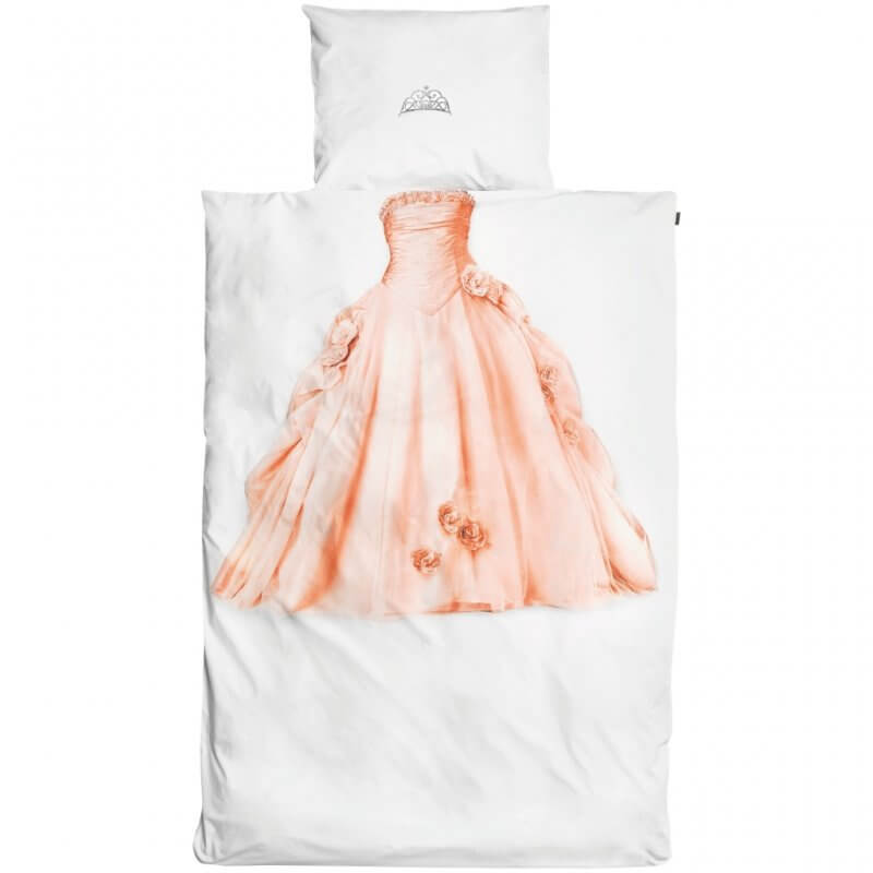 Princess dress and tiara theme bedding set