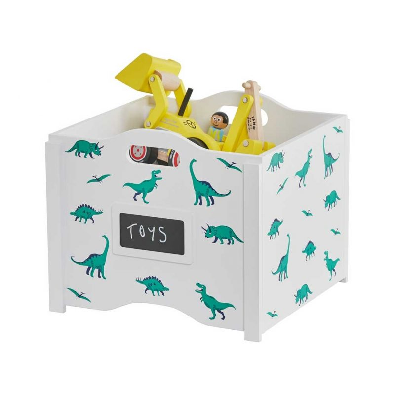 Stacking toy box with dinosaur prints