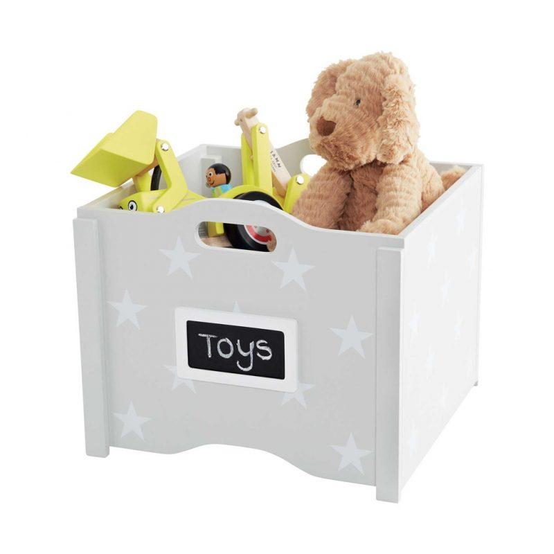Grey star design stacking toy box