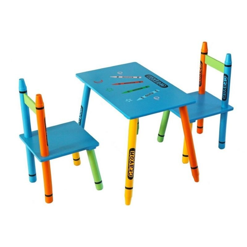 Crayon theme table and chair set