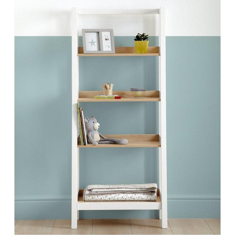 4 shelf ladder style bookcase
