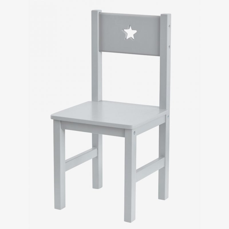 Grey painted chair with star cut-out
