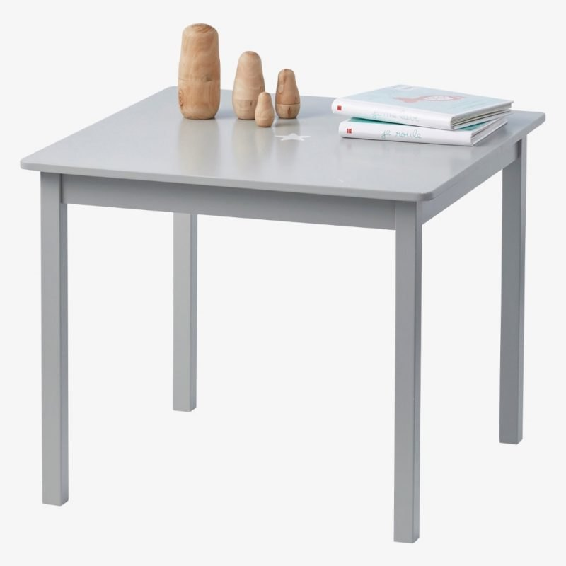 Grey painted square play table