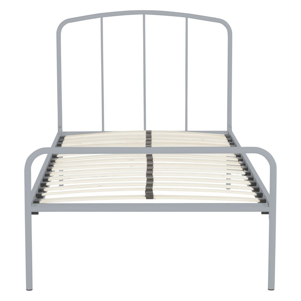 Budget metal bed frame with grey painted finish