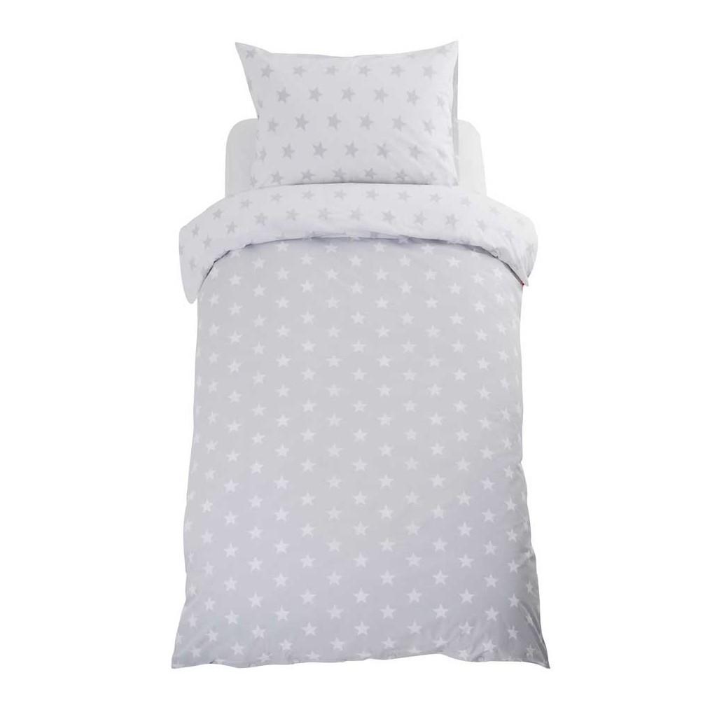 Grey/white duvet set with star pattern