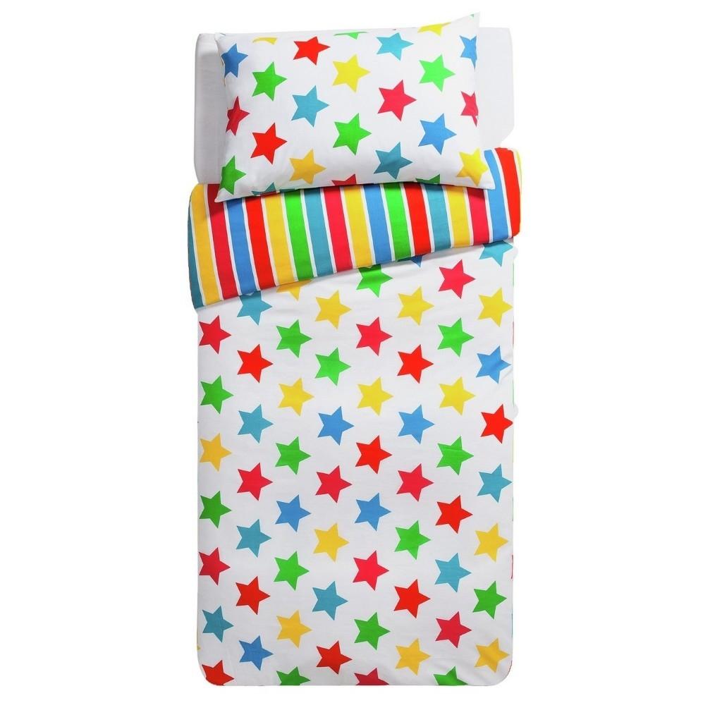 Bright stars and stripe duvet set