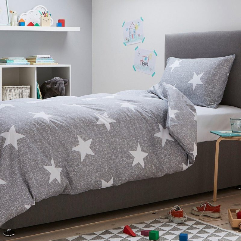 Jersey fabric bedding set with stars print