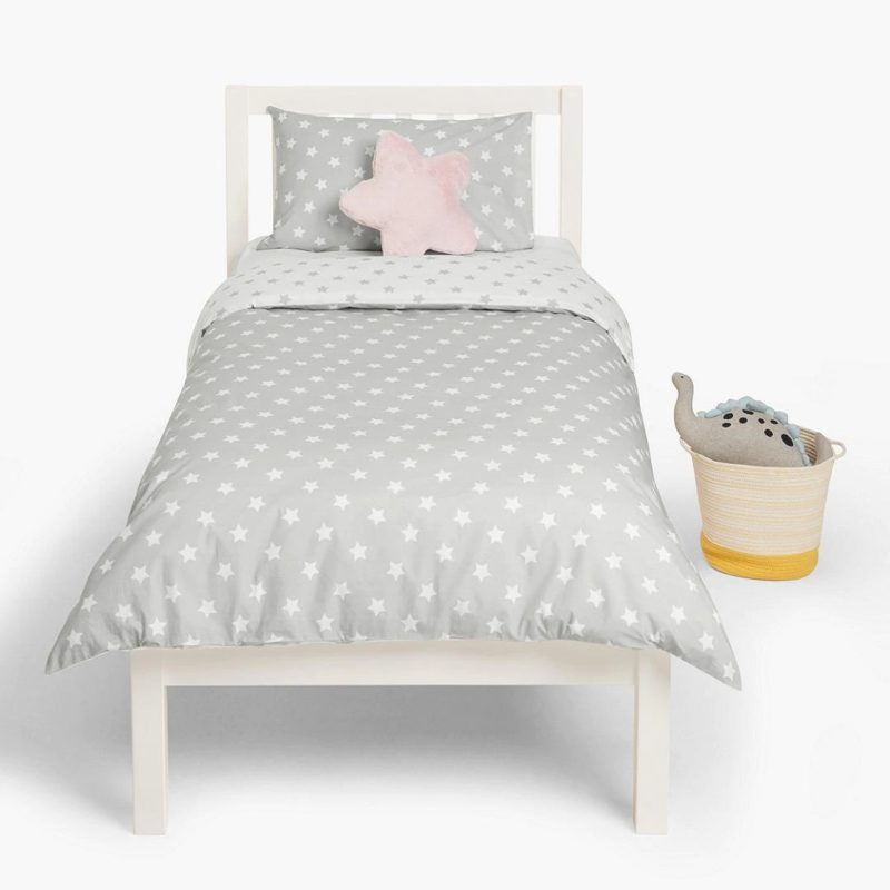 Grey stars print bedding