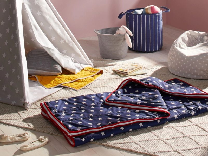 Navy with white stars sleeping bag