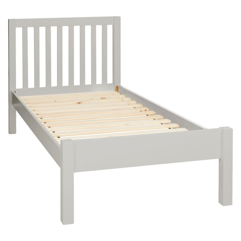Child's single bed with grey painted frame