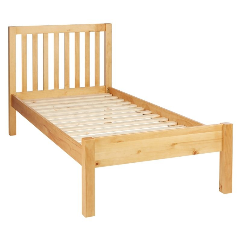 Child's single bed with pine frame