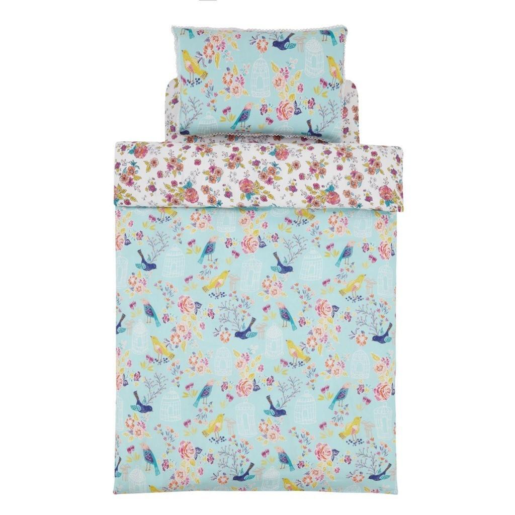 Pastel coloured duvet set with floral pattern