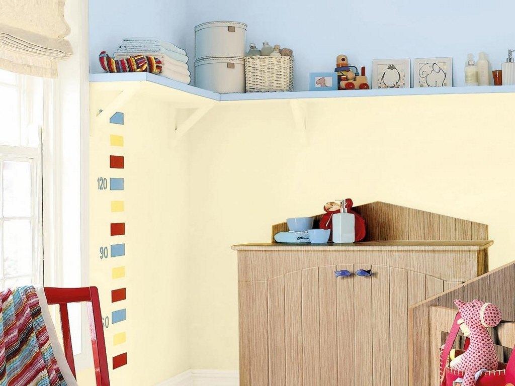 Pastel colour nursery room