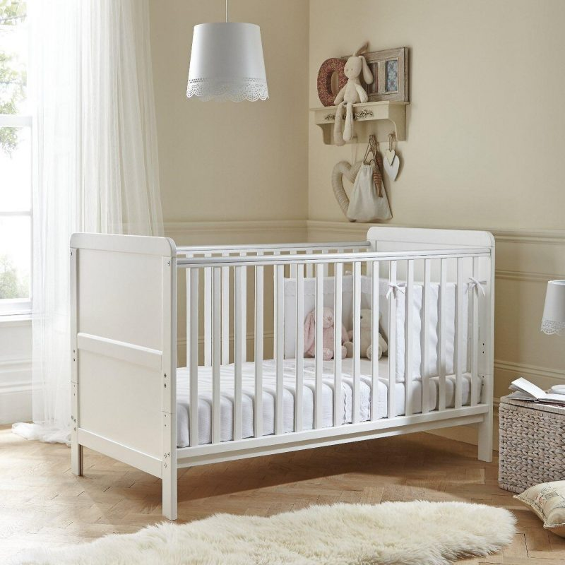 Classic white cot bed