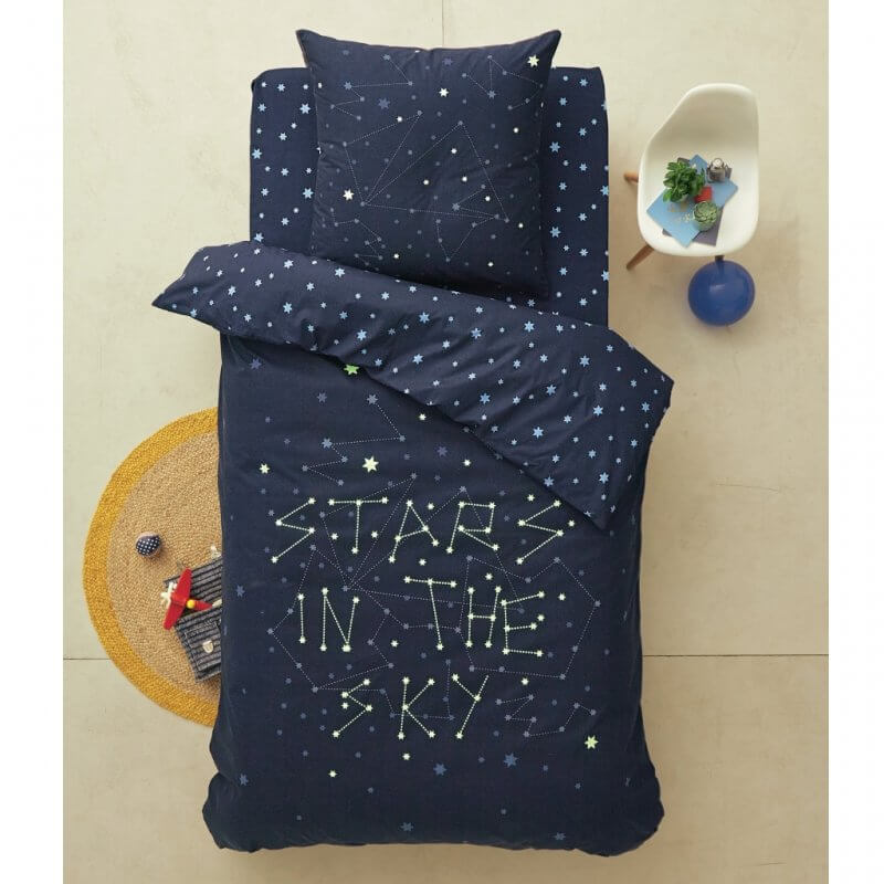 space theme bedding with glow in the dark stars