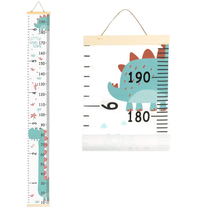 Dinosaur themed height chart