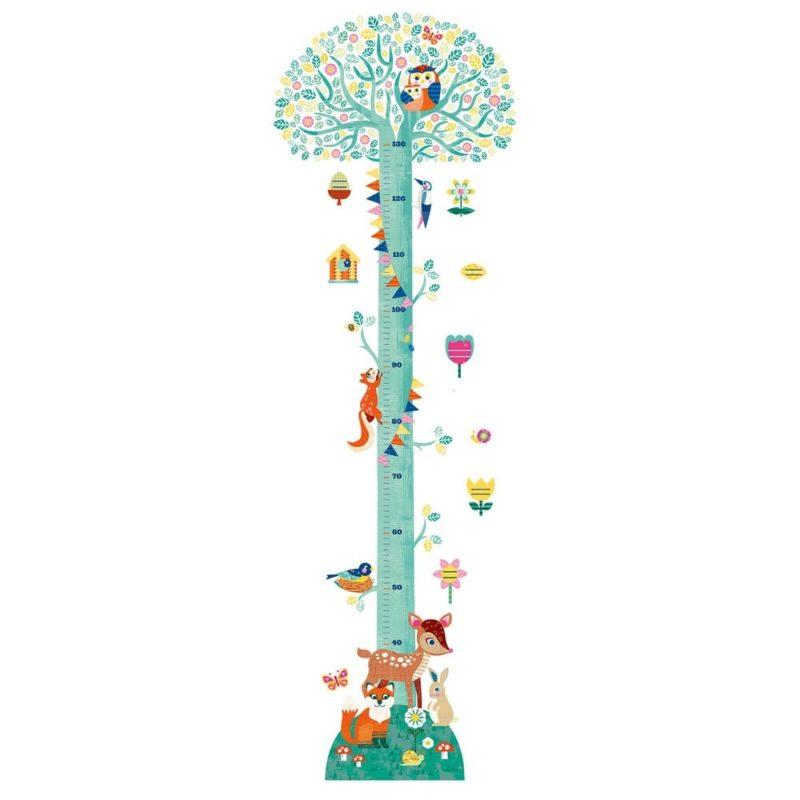 Tree themed height chart