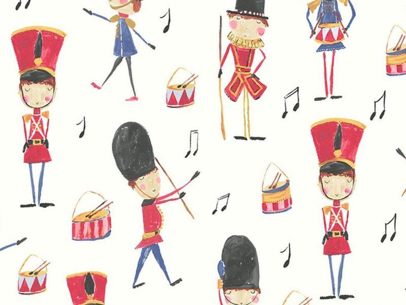 Vintage theme soldiers wallpaper